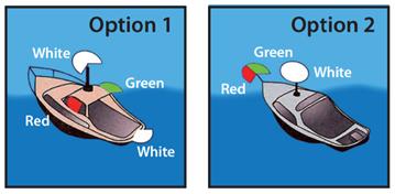 "Power boats under 12 m (39'4"") navigation lights"